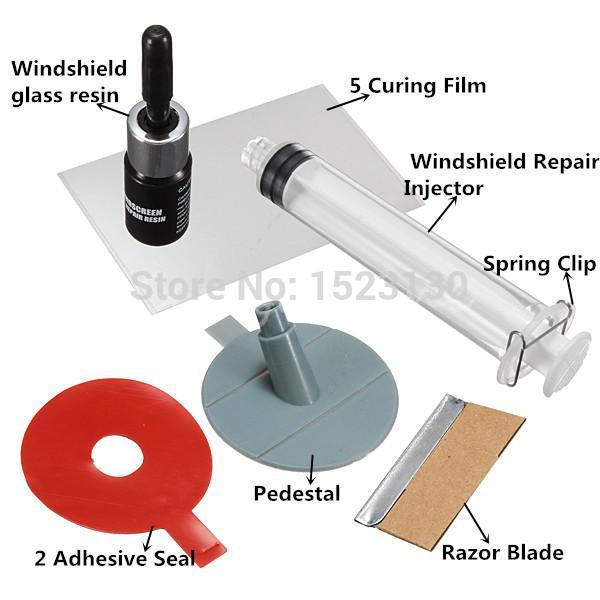 DIY Car Windshield Repair Kit tools Auto Glass Windscreen repair set (Give Door Handle Protective Decorative Stickers)(China (Mainland))