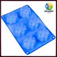 6 Cavity food Grade Silicone Octagonal tower Shape Cake Mold Chocolate soap Mold , Baking Pan , Bakeware