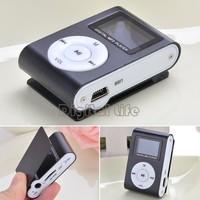 Mini Clip Design Digital LED Light Flash MP3 Music Player With TF Card Slot Black Optional FM Radio Support For 32GB #7 SV004269