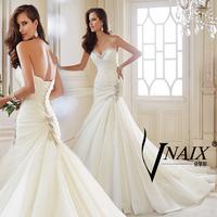 Vnaix WV483 2014 New Arrival Sweetheart Off Shoulder Sexy Mermaid Wedding Dresses White