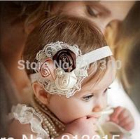 2015 new fashion lace flower baby girls headband Toddler headwear kids headbands children hair accessories