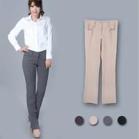 Hot Sale!! Wholesale Price Womens Cargo Pants Brown Khaki Gray Solid Color Full Length Female Trousers Calcas Femininas