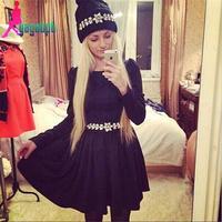 2015 Free shipping woman's gagaopt High quality black dress