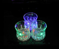 LED lighted cups 258ML water-sensing 5 colors flashing  imitation glass party supply barley-bree glass for Club/Bar/KTV use