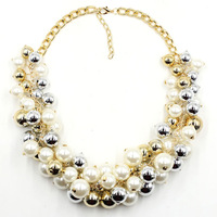 2015 NEW  fashion necklace collar pearl Necklaces & Pendants trendy choker collar statement  pearl necklace