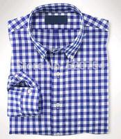 2015 new brand Plaid shirt 100% cotton fashion casual shirt  long-sleeved men dress shirt Free Shipping #70455