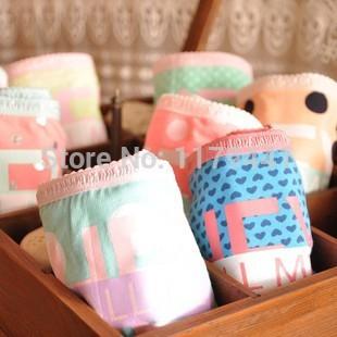 new arrive panties underwear 6pc/lot cotton candy dot lady's briefs ladies underwear girl's pant women underwear gift box(China (Mainland))