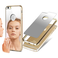Original cell phone case for iPhone6 plus IMAK Metal border + Mirror back case for Apple iPhone 6 plus with packing