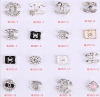 2015Fashion Preciosa Crystal nail charms500pcs/lot 3D Bow Tie Alloy Rhinestone Multicolor Nail Jewelry for nail gel(ML3501-3520)