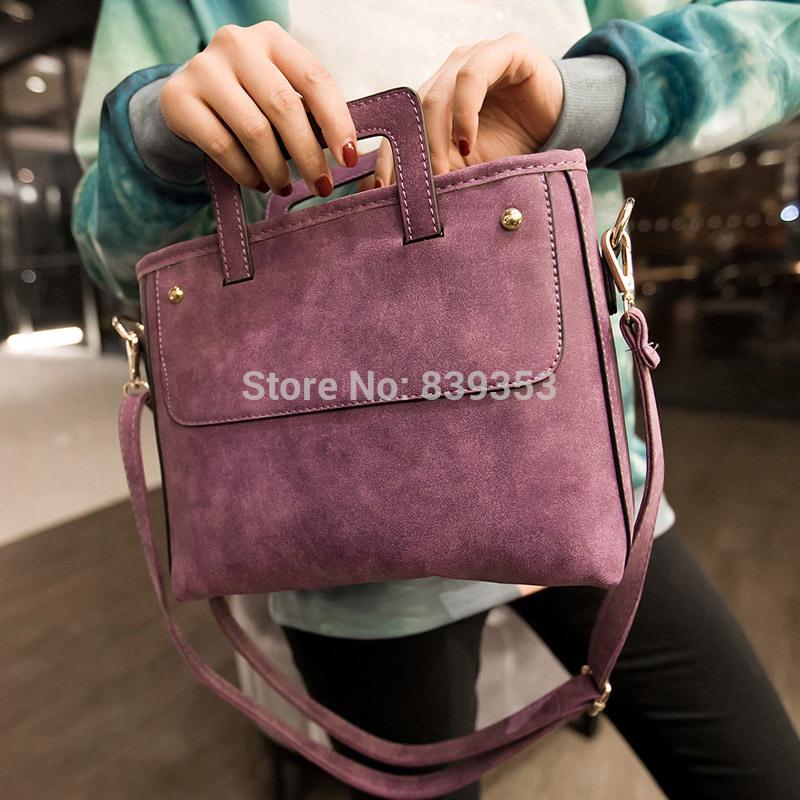 Fashion 2015 women's handbag scrub punk rivets handbag messenger bag hangbags leather fashion women shoulder bag(China (Mainland))