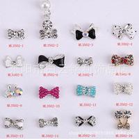 015 Fashion Shiny ! 1000pcs Alloy Rhinestone Bowknot nail jewellery 3D Alloy Jewelry Nail Art Tips Decoration (ML3499-3599