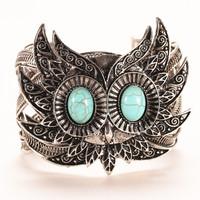 Fashion cute owl turquoise bangle Jewelry weave twist bangle tibetan silver chain bracelet/ turquoise bangle for woman HCC-B019