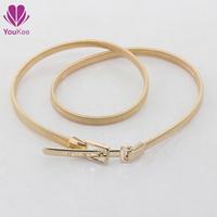 2015 Fashion women elastic chain belt gold&silver bright belt Youkee luxury belt cintos femininos Free shipping