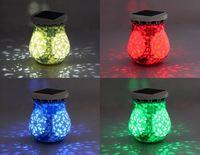 Free Shipping Top Export Europe Quality Solar Powered Ceramics Night Light LED Decorative Light Solar Lamp
