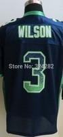 2014-15 Stitched - 3 Russell Wilson Men's Drift Fashion Blue Elite Football Jerseys size: 40-56