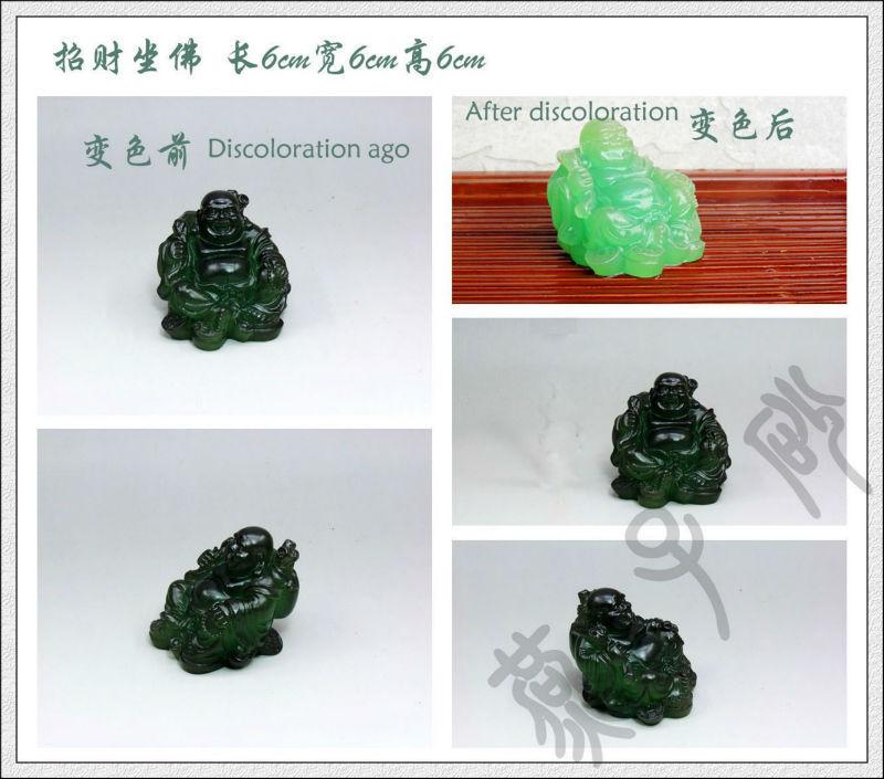 Resin ornaments pet boutique discoloration tea tea accessories cute pet Maitreya(China (Mainland))