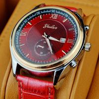 With Calendar relogio masculino Luxury  YULAN PU Strap Analog Display Date Men's Quartz Watch Casual Watch Men Wristwatch