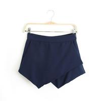 Women's Brand Trendy Split Shorts Skirts Causal Sexy&Club Summer Tropical Shorts Spring Elegant Ranking Shorts