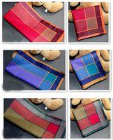 NEW ARRIVAL 3PCS/LOT 100% cotton 40*40cm 3 colors hanky men's handkerchief  pocket squares Plaid cotton handkerchief