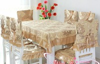 European classical rectangle table cloth chair cover set tablecloth 130*180cm 13 pieces free shipping