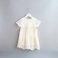 NEW ! Girl's summer lace white dress , kids costumes girls , girls dresses children , 5pcs/lot   XGL20
