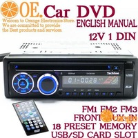 12V High quality Universal CAR DVD with USB SD Car MP3 PLAYER,FM Radio station Remote Control,1 din Fixd Panel Alpine Car  Radio