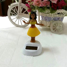 Free Shipping 5 Pieces Per Lot Swing Under Full Light Flip Flap Hula Girl Solar Energy Valentine's Day Gifts  Solar Powered Doll(China (Mainland))
