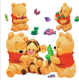 THE bear Kids Wall Decals Tiger Swing Tree Nursery Decor Vinyl Sticker(China (Mainland))