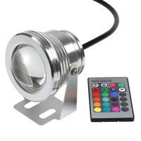 HOT RGB  10W LED Floodlight Underwater Waterproof Flood Light 85~265V outdoor swimming pool lighting landscape CE & ROHS