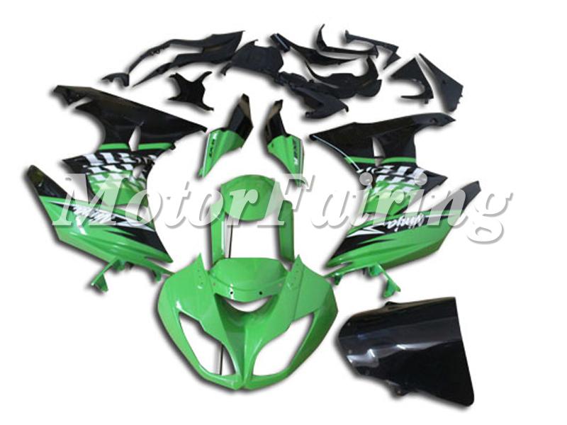 Green Custom Motorcycle Paint Jobs 636 09 10 Fairing Kits Zx6r 2009 2010 Motorcycle Bodywork Paint Job