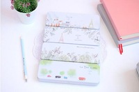 Free ship 1lot=8pc!Nice Scenery iron box of stationery pencil case/Metal pen box