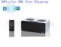 DHL Free shipping 50Pcs/Lot NFC bluetooth Mini Speaker touch screen Radio Music Player TF Card USB Portable Speaker KR7200