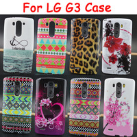 For LG G3 case Fashion African Stripe Leopard Flowers Soft TPU Phone Cases Cover For LG G3 D850 D855