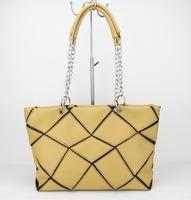 Free shipping Promotion 2015 New Arrival pu Leather pactwork Women Handbag Shoulder Bag Messenger Bag H090 apricot