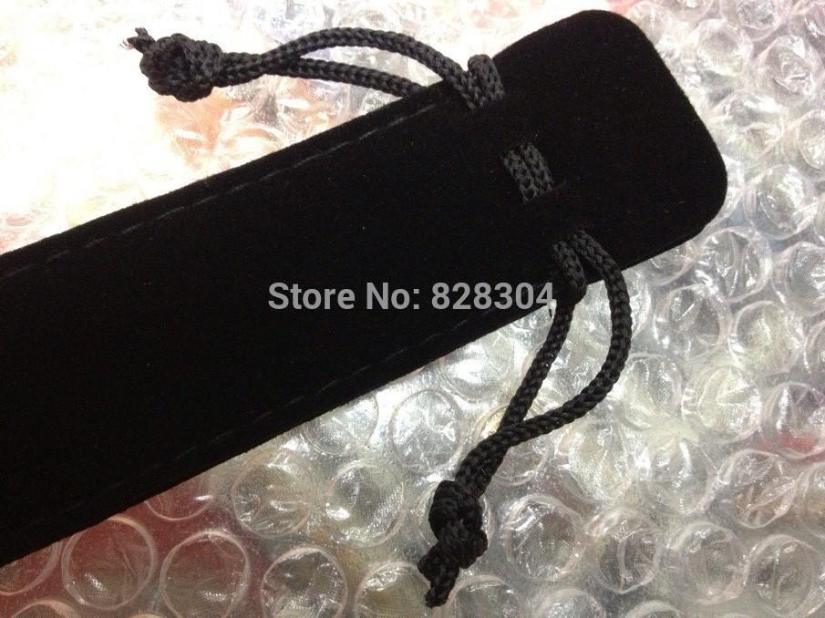 Free shipping black Velvet pen bag pen pouch pencil case with rope black 100pcs/lot(China (Mainland))