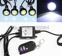 4pcs x 3W LED Backup Fog Driving Reverse Lamp DRL+Strobe Light Remote Controller