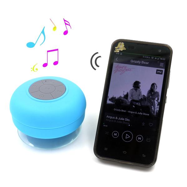 Portable Waterproof Wireless Bluetooth Shower Speaker with Mic Mini Loudspeakers Music Car Speakers Sound Box(Hong Kong)