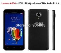 Original Lenovo A606 4G FDD LTE Android 4.4 smart phone Cell Phone Quad Core 1.3GHz 4GB ROM