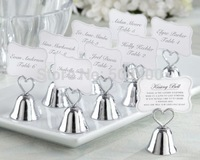 Details about  Kissing Bell Wedding Place Card Holders Photo Holders Set