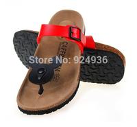 2015 Women Sandals Summer Fashion Birkenstock Flip Flops Shoes Cartoon Cute Shoes Fashion Cork Slippers Sandals Plus Size