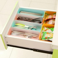 Japanese Style Multi-purpose Organize Drawer Storage Box Plastic Box Kitchen Tableware Sundries Storage Box 3 Pieces/Set