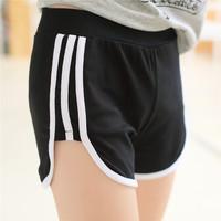 free size 2015 Fashion Korean female sports shorts 4 Colors Casual Yoga Running Shorts Free Shipping