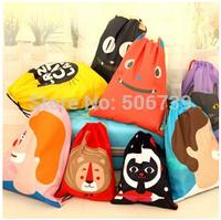 2015 new fashion escolar backpack cute cartoon print travel softback man women mochila feminina drawstring bag unisex backpacks