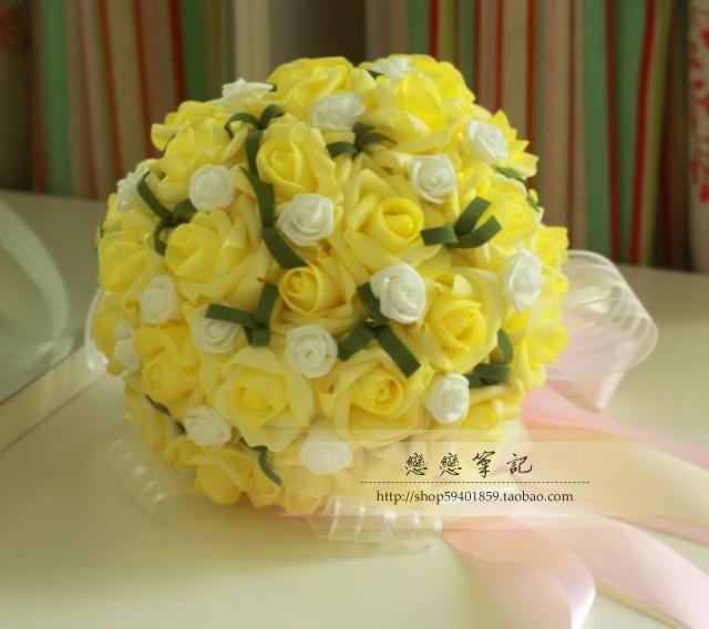 Yellow Wedding Flowers Online : Get cheap yellow wedding bouquets aliexpress