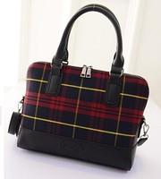 2015 New woman bag 2 colors Korean fashion lattice wave bag lady bag shoulder handbag trade baodan fashion handbags wholesale