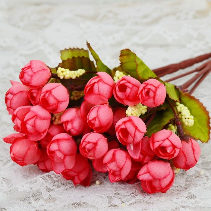 2015 Houseware Decor Mini Rose Artificial Flowers Decorative Flowers Wreaths Flowers Wedding Party Decoration(China (Mainland))