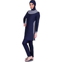 2015 fashion Piece muslim swimwear islamic swimsuit for women full coverage swimwear DHL free shipping