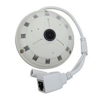 HOSAFE 1.3 Megapixel 360 Fisheye Panoramic IP Camera with 128G SD Card Recording (1.78mm Lens, 12 IR LED)