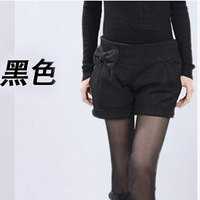 Free shipping 2015 spring new big size Korean version women slim Was thin woolen boots curling shorts tide cheap wholesale