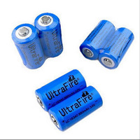 6PCs Trustfire Blue 16340 Battery 3.7V 880mAh Rechargeable Lithium Battery Recharge Li-ion Battery For Torch Flashlight Camera
